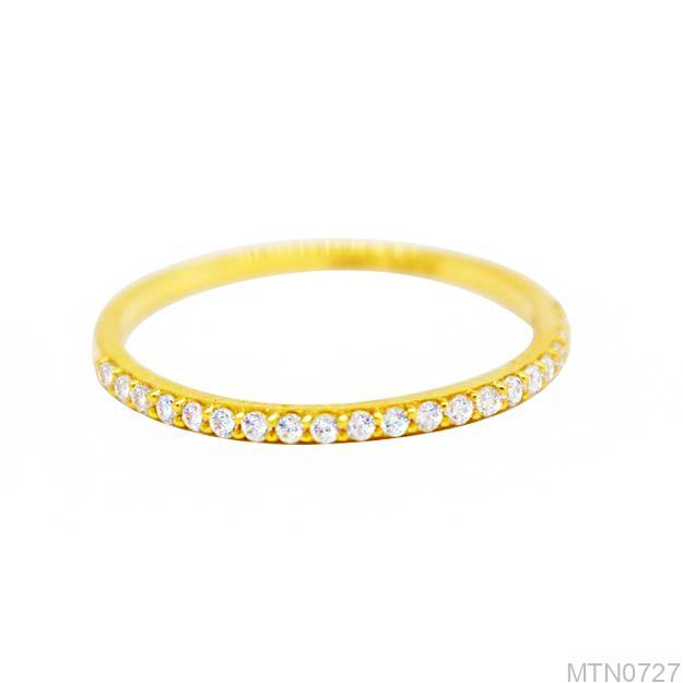 Nhẫn Nữ Vàng 18K Đính Đá CZ - MTN0727