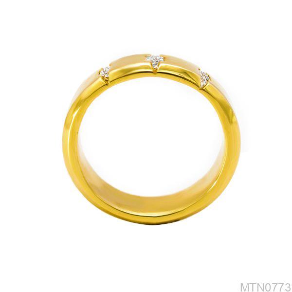 Nhẫn Nam Vàng 18K Đính Đá CZ - MTN0773