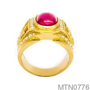 Nhẫn Nam Vàng 18K Đính Đá CZ - MTN0776