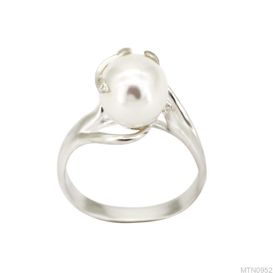 Nhẫn Nữ Vàng Trắng 10k Đính Ngọc Trai - MTN0952