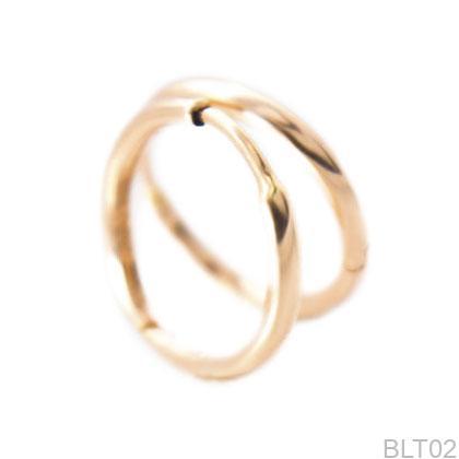 Bông Tai Vàng Hồng 18K - BLT02