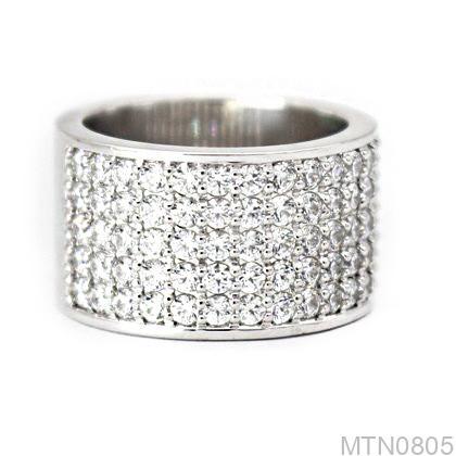 MTN0805-1 Nhẫn nam vàng trắng