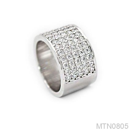 MTN0805 Nhẫn nam vàng trắng