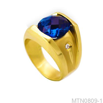 Nhẫn Nam Vàng 18K Đính Đá CZ - MTN0809-1