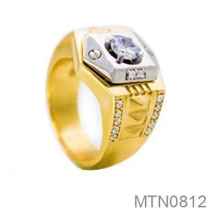 Nhẫn Nam Vàng 18K Đính Đá CZ - MTN0812