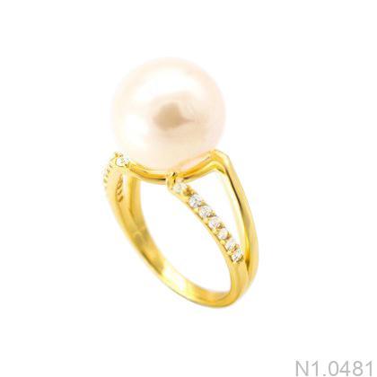 Nhẫn Nữ Ngọc Trai Vàng 18k - N1.0481