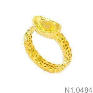 Nhẫn Nữ Kim Tiền Vàng 18k - N1.0484