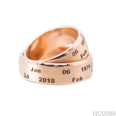 Nhẫn cưới vàng hồng nc0099
