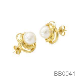 Bông Tai Ngọc Trai Vàng 18K - BB0041