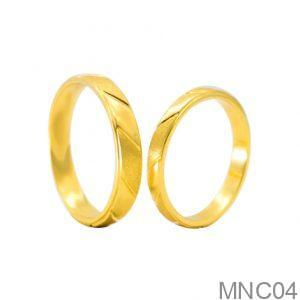 Nhẫn Cưới Vàng Vàng 18k - MNC04