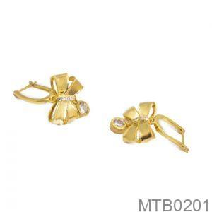 Bông Tai Vàng 18K Đính Đá CZ - MTB0201