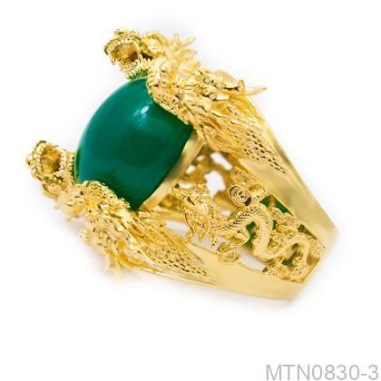 MTN0830-3-1 Nhẫn nam rồng vàng