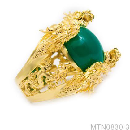 MTN0830-3 Nhẫn nam rồng vàng