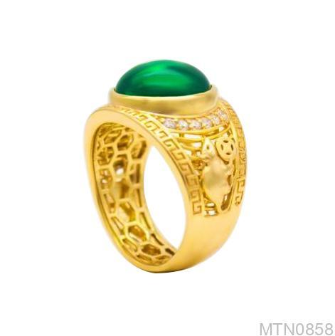 Nhẫn Nam Vàng 18K Đính Đá CZ - MTN0858