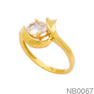 Nhẫn Nữ Vàng 18K Đính Đá CZ - NB0067