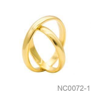 Nhẫn Cưới Vàng Vàng 18k - NC0072-1