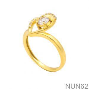 Nhẫn Nữ Vàng 18K Đính Đá CZ - NUN62