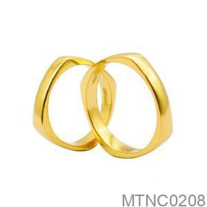 Nhẫn Cưới Vàng Vàng 18k Đính Đá CZ - MTNC0208