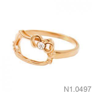 Nhẫn Kiểu Nữ Vàng Hồng 18k - N1.0497