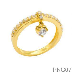 Nhẫn Nữ Vàng 18K Đính Đá CZ - PNG07