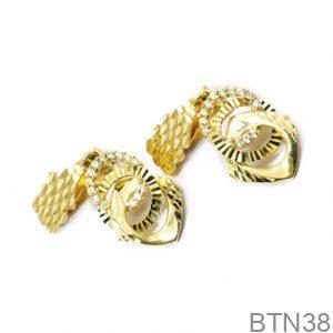 Bông Tai Vàng 18K Đính Đá CZ - BTN38