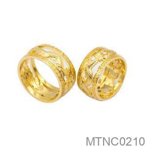 Nhẫn Cưới Rồng Vàng 18k Đính Đá CZ - MTNC0210