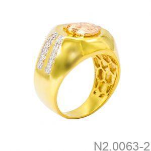 Nhẫn Hai Màu Vàng 18k - N2.0063-2