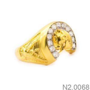Nhẫn Nam Vàng Vàng 18k - N2.0068
