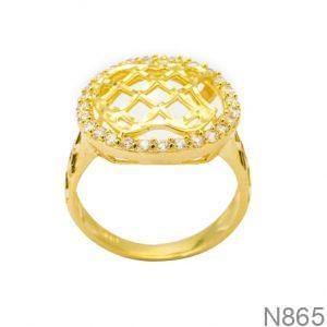 Nhẫn Nữ Vàng 18K Đính Đá CZ- N865