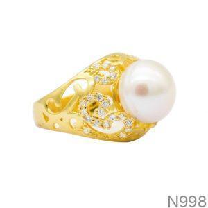 Nhẫn Nữ Ngọc Trai Vàng 18k - N998