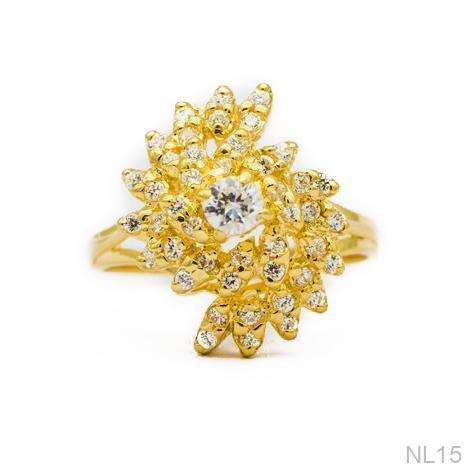Nhẫn Nữ Vàng 18K Đính Đá CZ - NL15