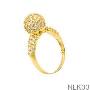 Nhẫn Nữ Vàng 18K Đính Đá CZ - NLK03