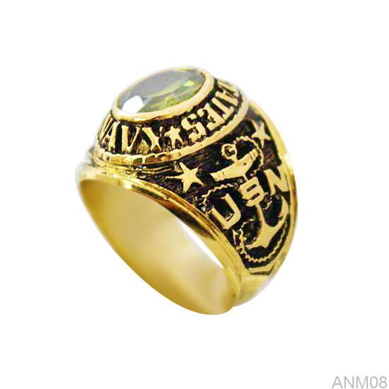 ANM08-1 Nhẫn nam kiểu Mỹ vàng 10k