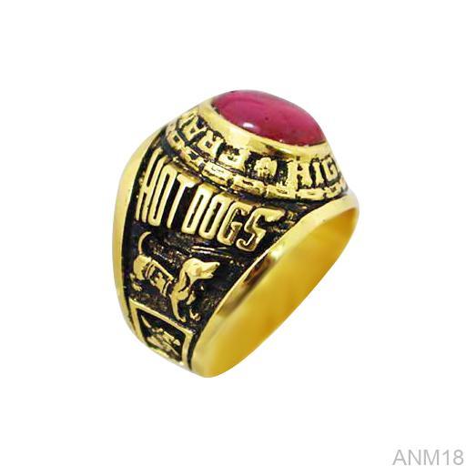 ANM18 Nhẫn vàng nam 10k kiểu Mỹ