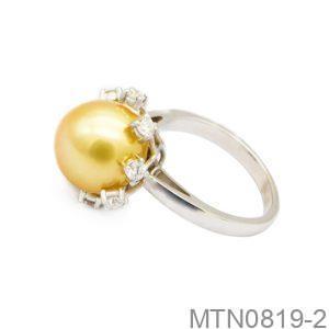 Nhẫn Kiểu Nữ APJ Vàng Trắng 18k - MTN0819-2