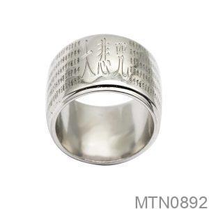 Nhẫn Nam Vàng Trắng 10K - MTN0892