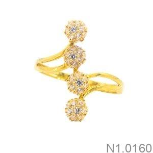 Nhẫn Nữ Vàng Vàng 18K Đính Đá CZ - N1.0160
