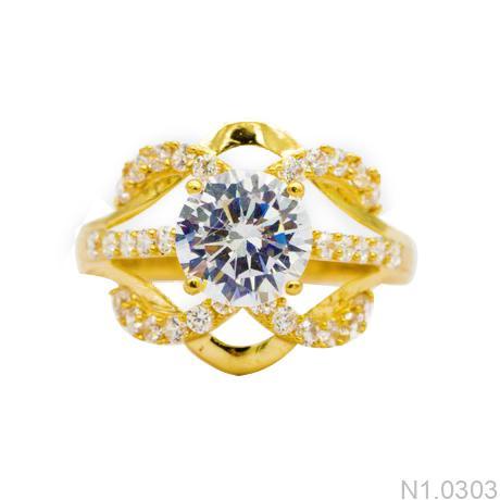 Nhẫn Nữ Vàng 18K Đính Đá CZ - N1.0303