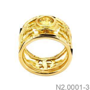 Nhẫn Nam Vàng Vàng 18K Đính Đá CZ - N2.0001-3