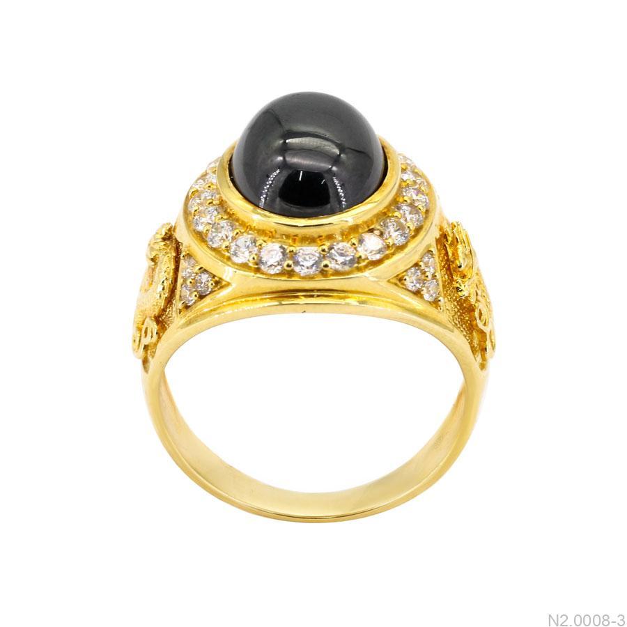 Nhẫn Nam Vàng Vàng 18K - N2.0008-3