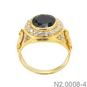 Nhẫn Nam Vàng Vàng 18K Đính Đá CZ - N2.0008-4