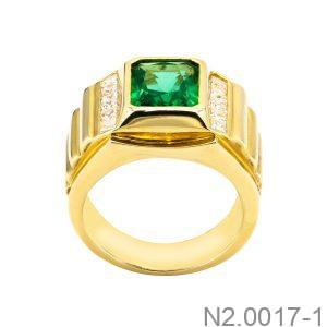 Nhẫn Nam Vàng Vàng 18K Đính Đá CZ - N2.0017-1