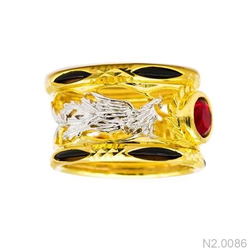 N2.0086-1 Nhẫn nam lông voi phượng hoàng