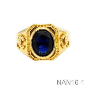 Nhẫn Nam Vàng Vàng 18K Đính Đá CZ - NAN16-1