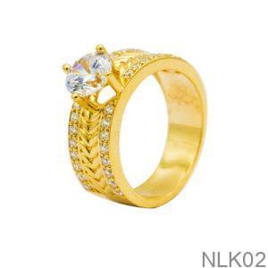 Nhẫn Nữ Vàng 10K Đính Đá CZ - NLK02