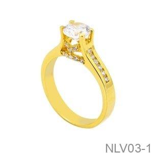 Nhẫn Nữ Vàng Vàng 18K Đính Đá CZ - NLV03-1