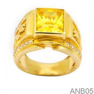 Nhẫn Nam Vàng 14K Đính Đá CZ - ANB05
