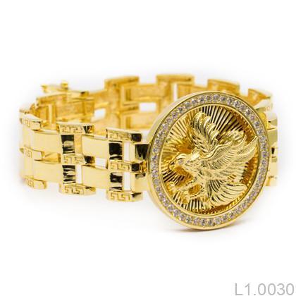 L1.0030-1 Lắc tay nam vàng 18k kiểu đại bàng
