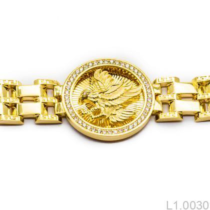 L1.0030-2 Lắc tay nam vàng 18k kiểu đại bàng