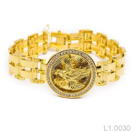 L1.0030 Lắc tay nam vàng 18k kiểu đại bàng
